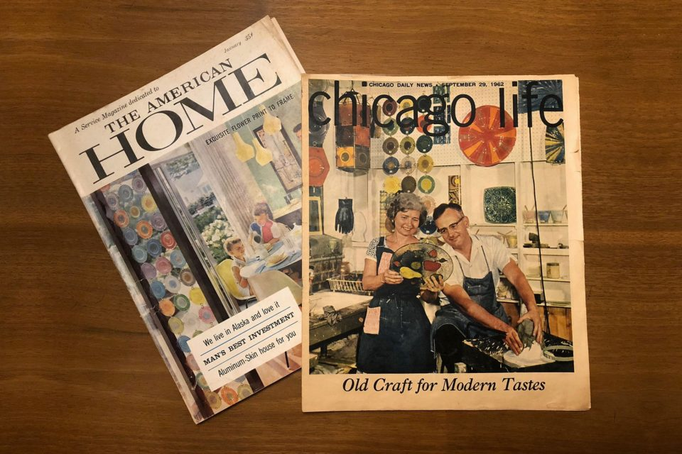 Higgins Glass featured in The American Home and Chicago Life magazines