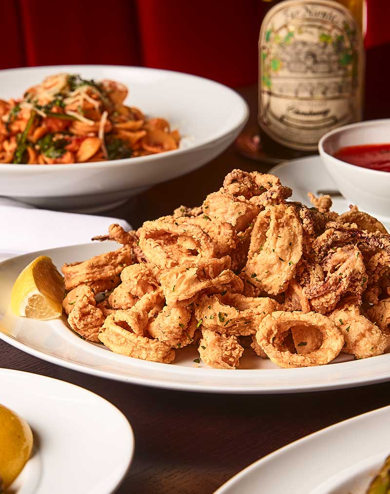 Catering in near McCormick place and Wintrust Arena. Here pictured our fried calamari.